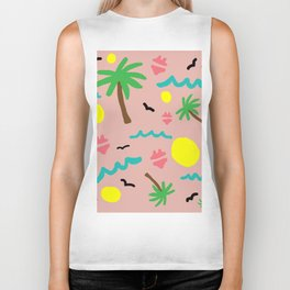 Beachy Keen By the Sea Biker Tank