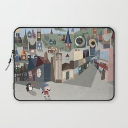 A Boy and his Penguin Laptop Sleeve