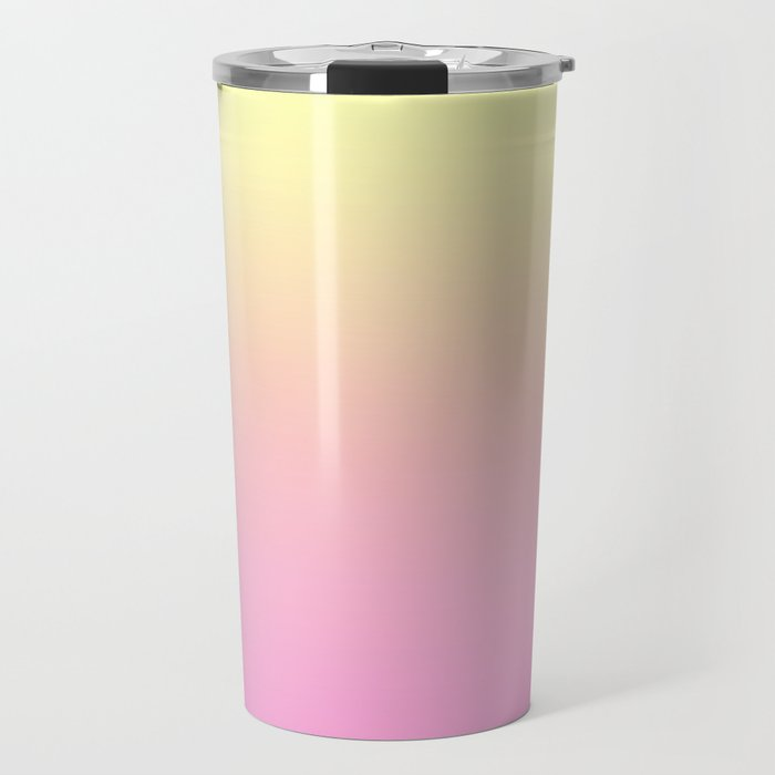 PEACH DREAMS - Minimal Plain Soft Mood Color Blend Prints Travel Mug