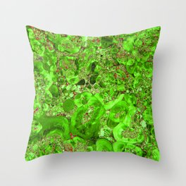 Marble Emerald Green Throw Pillow