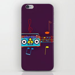 Radio Active musical waves iPhone Skin