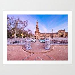 Plaza de España, Sevilla, Spain 2 Art Print