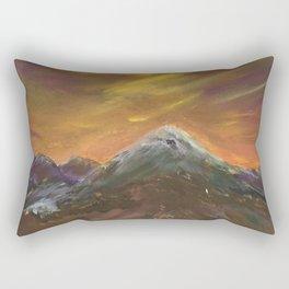 Sunset Mountains Rectangular Pillow