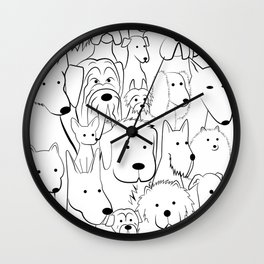 ALL THE DOGS Wall Clock