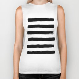 black paint stripes Biker Tank