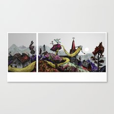 some fill their space with bearded face Canvas Print