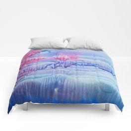 blue underwater world 3 Comforters