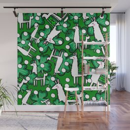 Luck Irish Llamas Wall Mural