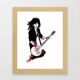 Joan Jett, The Queen of Rock Framed Art Print