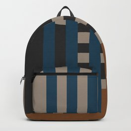 Geometric Stripes and Shapes Backpack