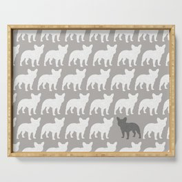 French Bulldog Silhouette(s) Serving Tray