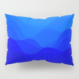 Blue Waves Pillow Sham