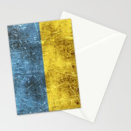 Vintage Aged and Scratched Ukrainian Flag Stationery Cards