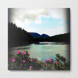 Mountain Flowers Metal Print