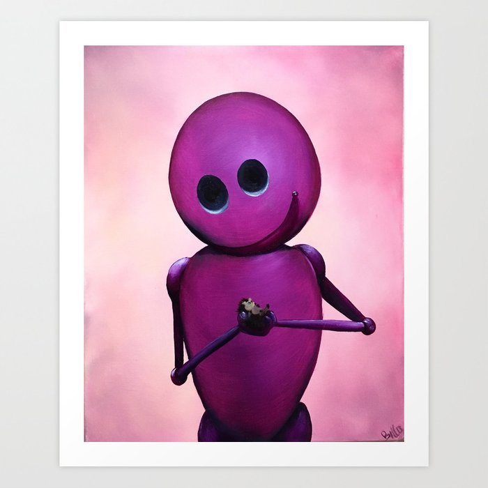 Happy Bot Art Print