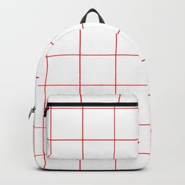 Graph Paper (Red & White Pattern) Backpack