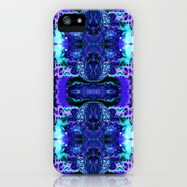 Psycho - Electric Tesla Slide Neon Blue Lighting by annmariescreations iPhone Case