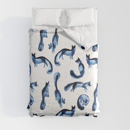 A pack of silver foxes. Comforters