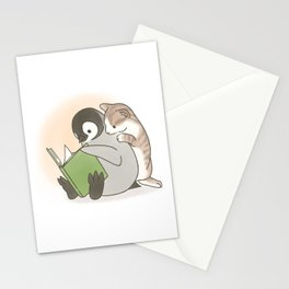 With a cat (2) Stationery Cards