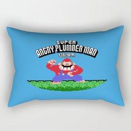 Super Angry Plumber Man Rectangular Pillow