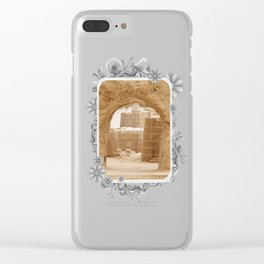 Sand Castle Inside Clear iPhone Case