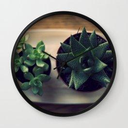 Green Plants Wall Clock