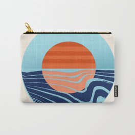 Sweetness - retro minimal 70s style throwback sunset sunrise ocean socal art Carry-All Pouch