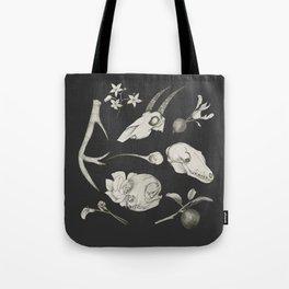 Bones and Botanical Sketches Tote Bag