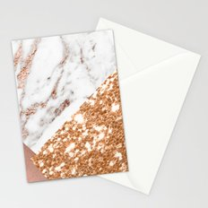 Layers of rose gold Stationery Cards