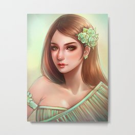 THAI traditional *GirlsCollection* Metal Print