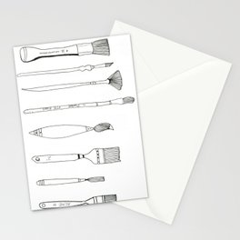 Paint Brush Illustration  Stationery Cards