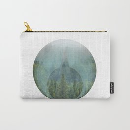 Geometric Misty Forest Carry-All Pouch