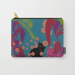 Black Cat In The Outside World Carry-All Pouch