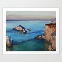 Highway 1 California Coast Plein Air Oil Painting Art Print