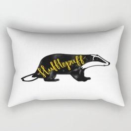 Hufflepuff Badger Rectangular Pillow