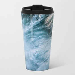 Wave in Ireland during sunset - Oceanscape Metal Travel Mug