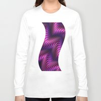 3d Long Sleeve T-shirts featuring 3D by DagmarMarina