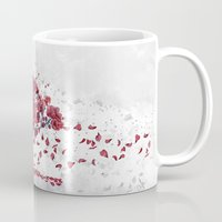 cherry blossom Mugs featuring Cherry blossom by Marine Loup