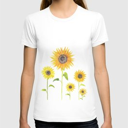 Sunflowers Watercolor Painting T-shirt