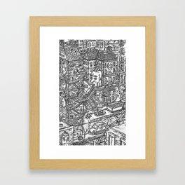 City Rush Hour Framed Art Print