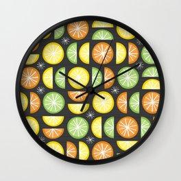 Zesty Citrus Wall Clock