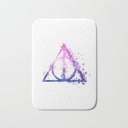 Deathly Hallows galaxy paint drops - Potterhead - elder wand, invisibility cloak, resurrection stone Bath Mat