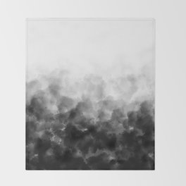 Ombre Smoke Clouds Minimal Throw Blanket