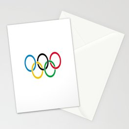 Flag of olympics games-olympic,olympic game,sport,coubertin, circles,medal,fun,international Stationery Cards