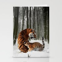 tigers Stationery Cards featuring Tigers by Julie Hoddinott