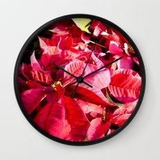 Poinsettia I Wall Clock