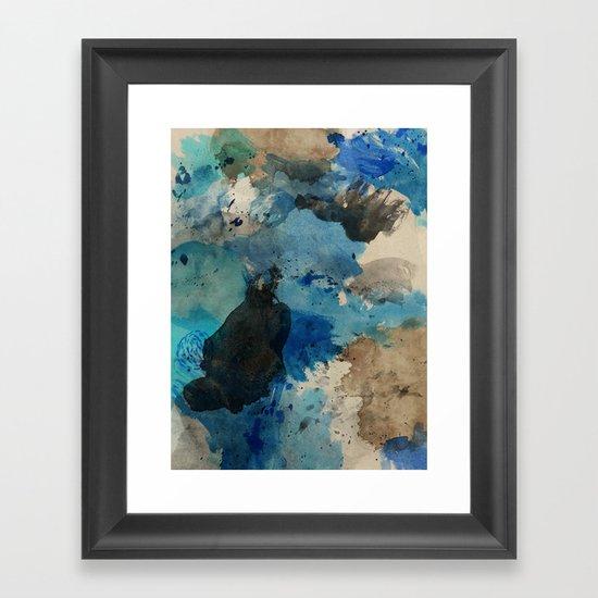 Secret Mediterranean Beach Framed Art Print