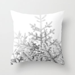 Snow Lift // Ski Chair Lift Colorado Mountains Black and White Snowboarding Vibes Photography Art Print Throw Pillow