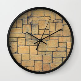 Masonry Stone Cladding Wall Wall Clock