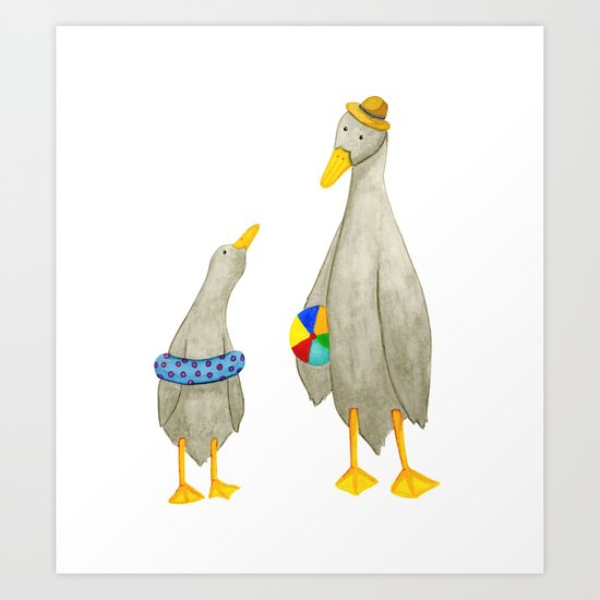 The ducks day out! Art Print